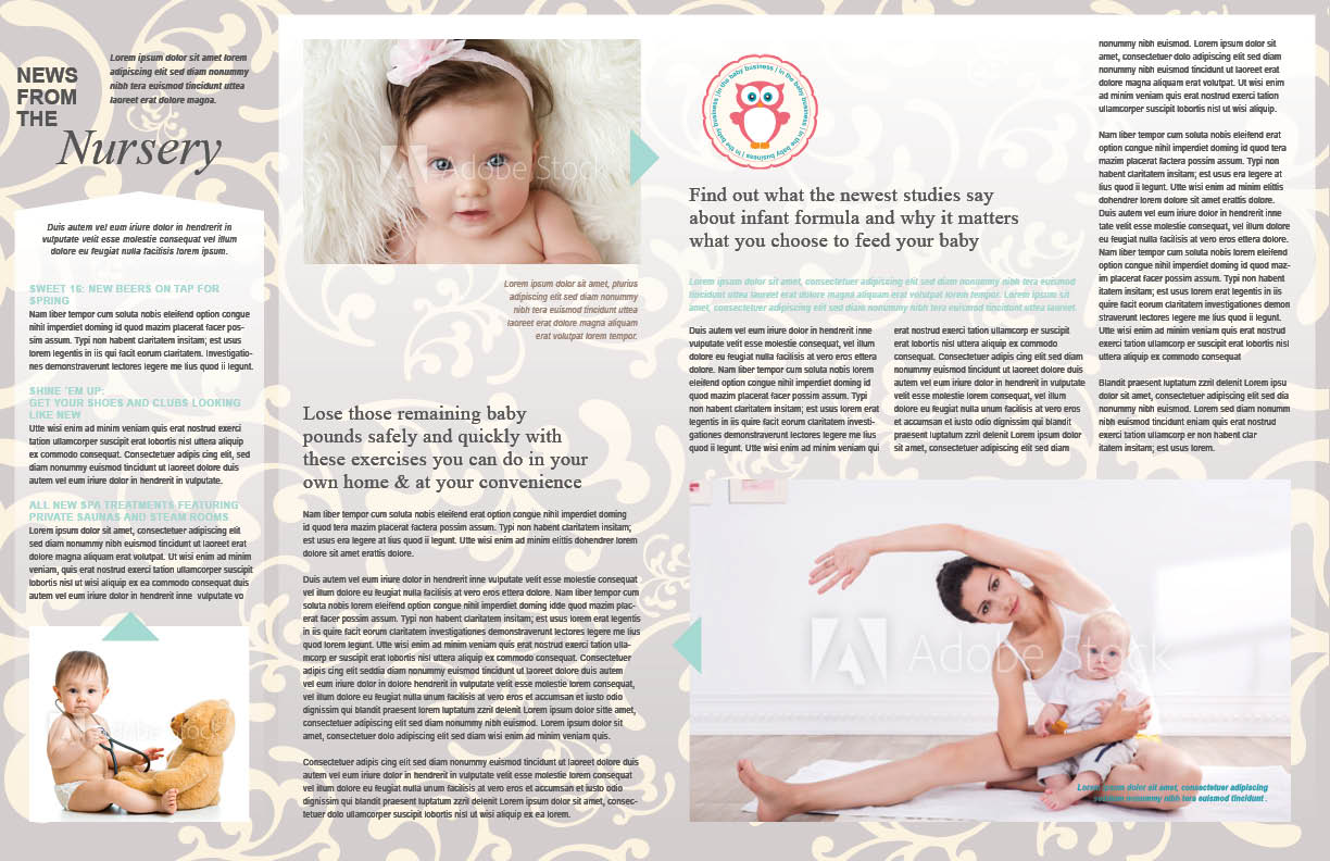 OBGYN newsletter pages 2 and 3