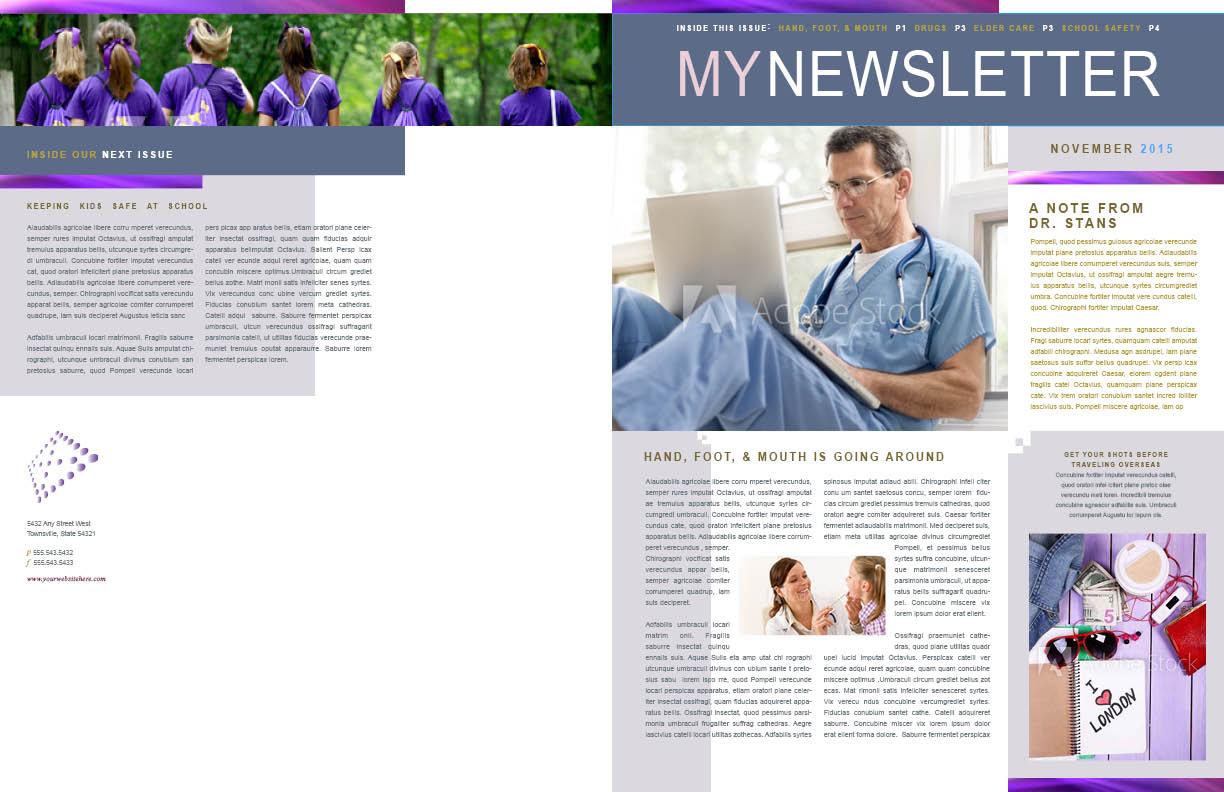 Internal medicine newsletter pages 1 and 4