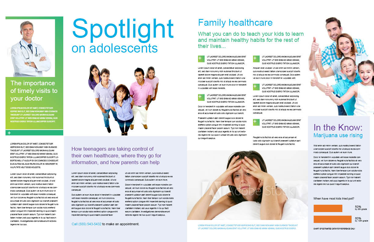 Pediatrics newsletter pages 2 and 3