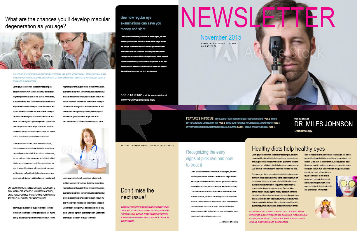 Ophthalmology newsletter pages 1 and 4